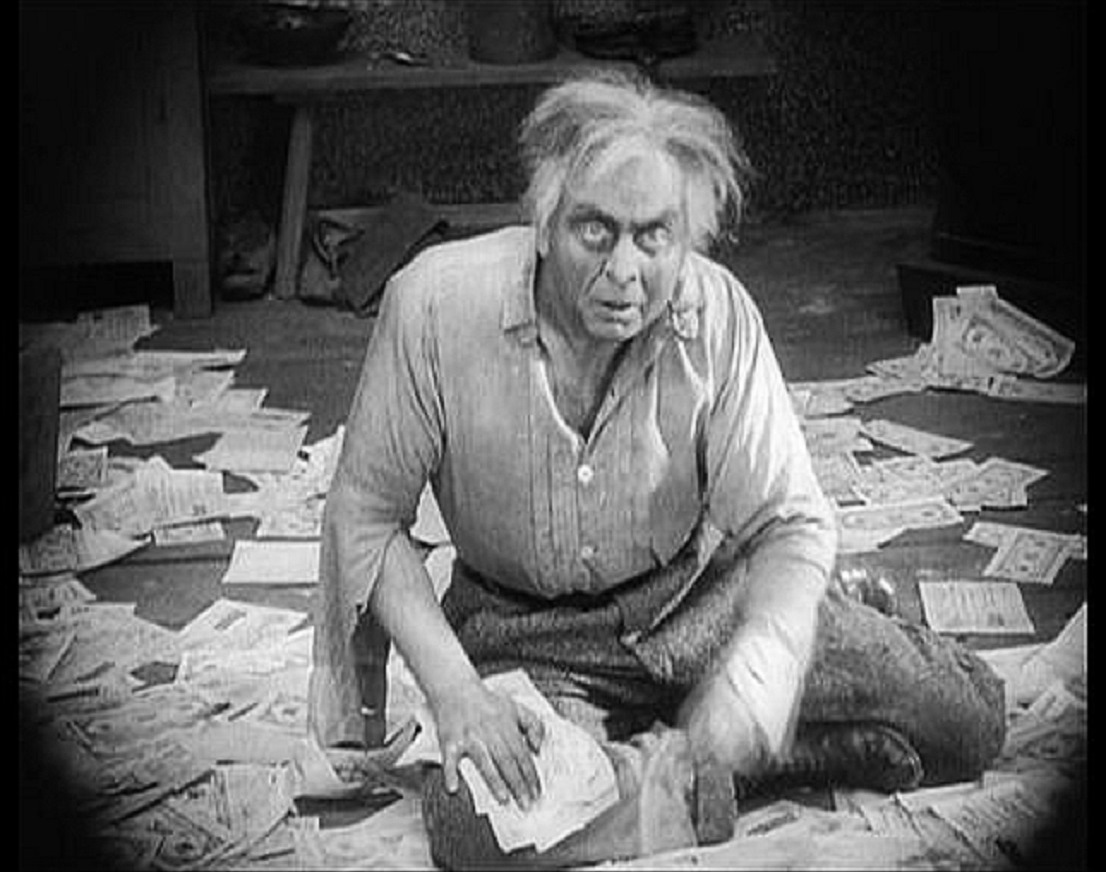 Dr Mabuse (Rudolf Klein-Rogge) now a madman confined to an asylum in The Testament of Dr Mabuse (1933)