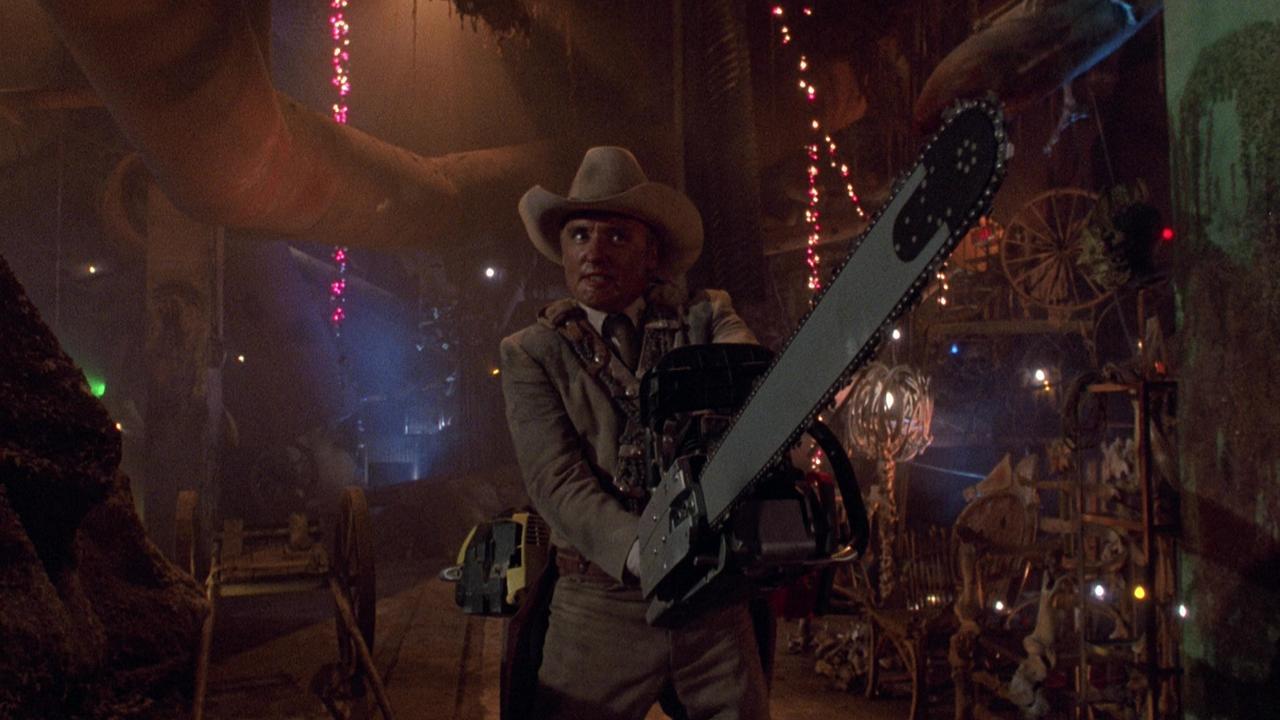 Dennis Hopper as Texas Ranger Lefty Enright in The Texas Chainsaw Massacre 2 (1986)