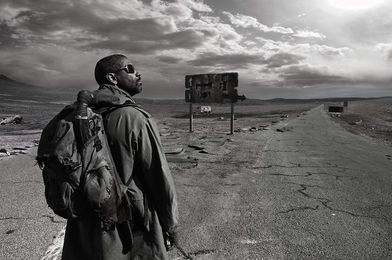 Denzel Washington wanders the post-holocaust wastelands in The Book of Eli (2010)