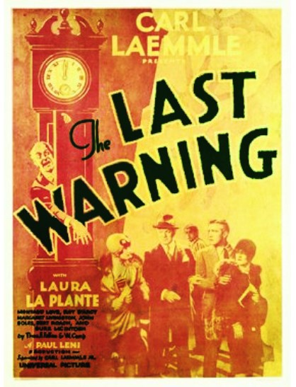 The Last Warning (1929) poster