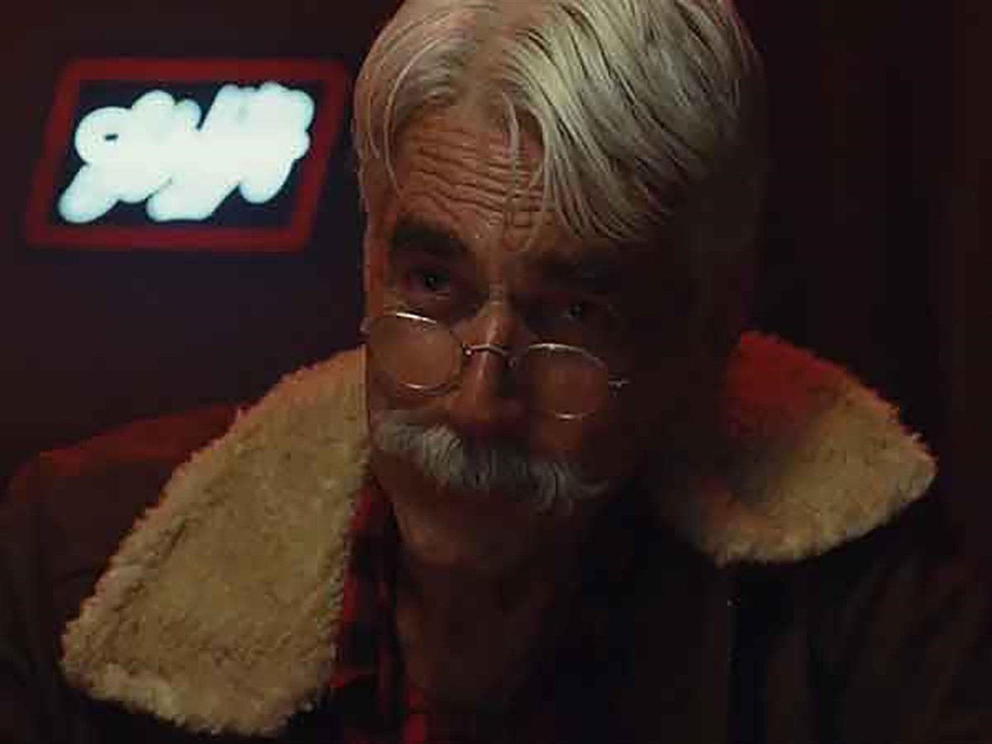Sam Elliott as the aging Calvin Barr in The Man Who Killed Hitler and Then The Bigfoot (2018)