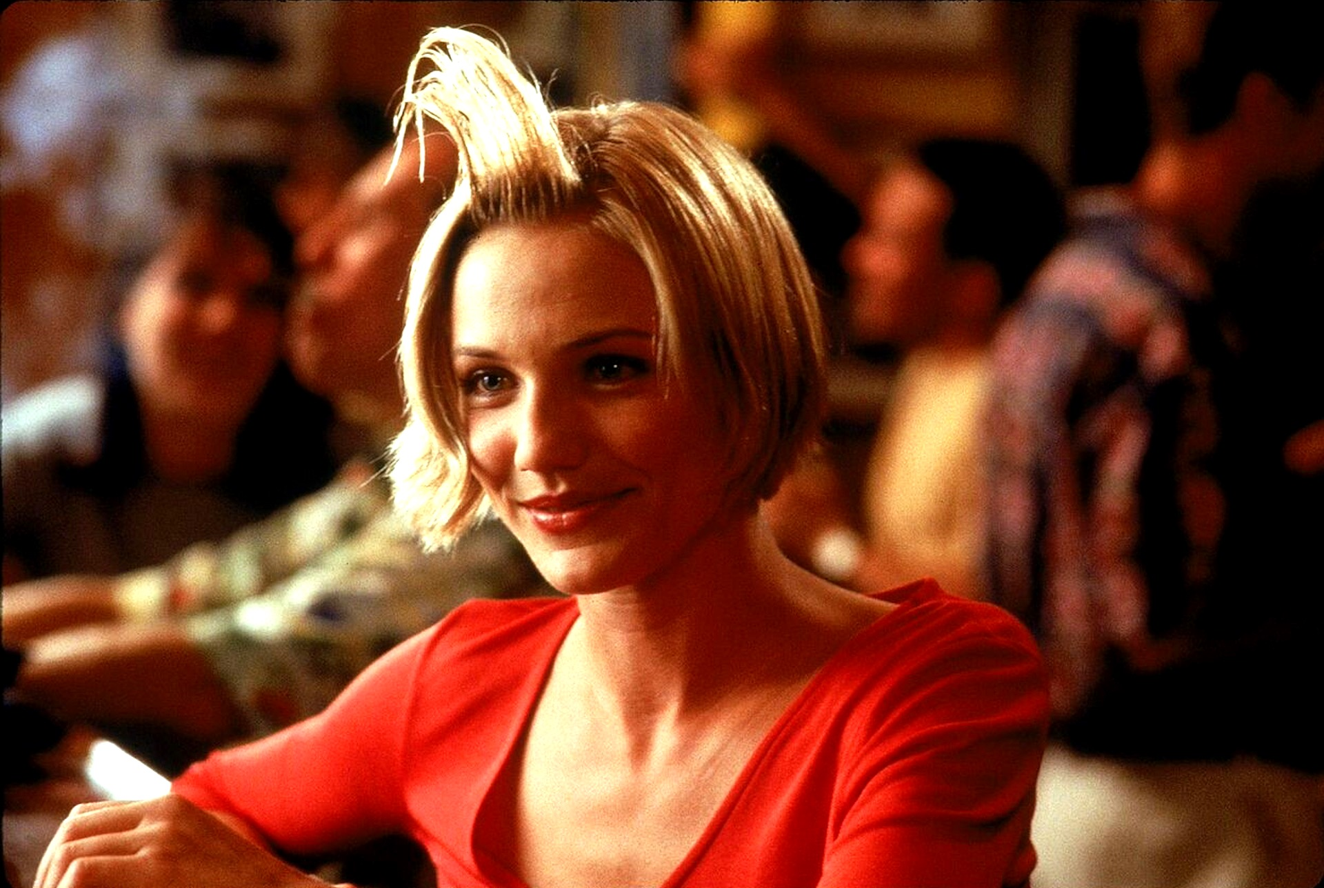 Cameron Diaz as Mary sporting 'hair gel' in There's Something About Mary (1998)