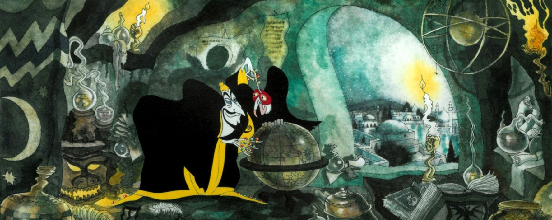 The vizier Zigzag (voiced by Vincent Price) in The Thief and the Cobbler (1994)