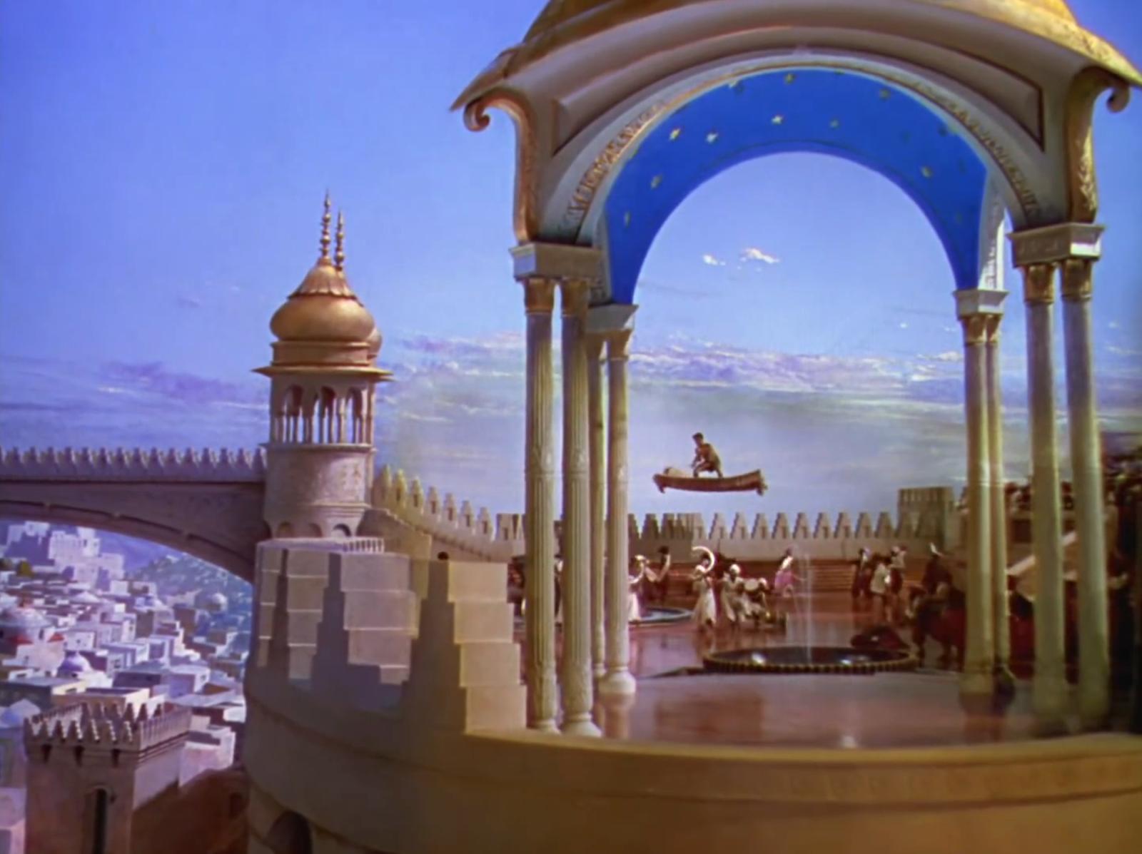 Flying carpets in The Thief of Bagdad (1940) - one of the screen's purest evocations of the Arabian Nights fantasy