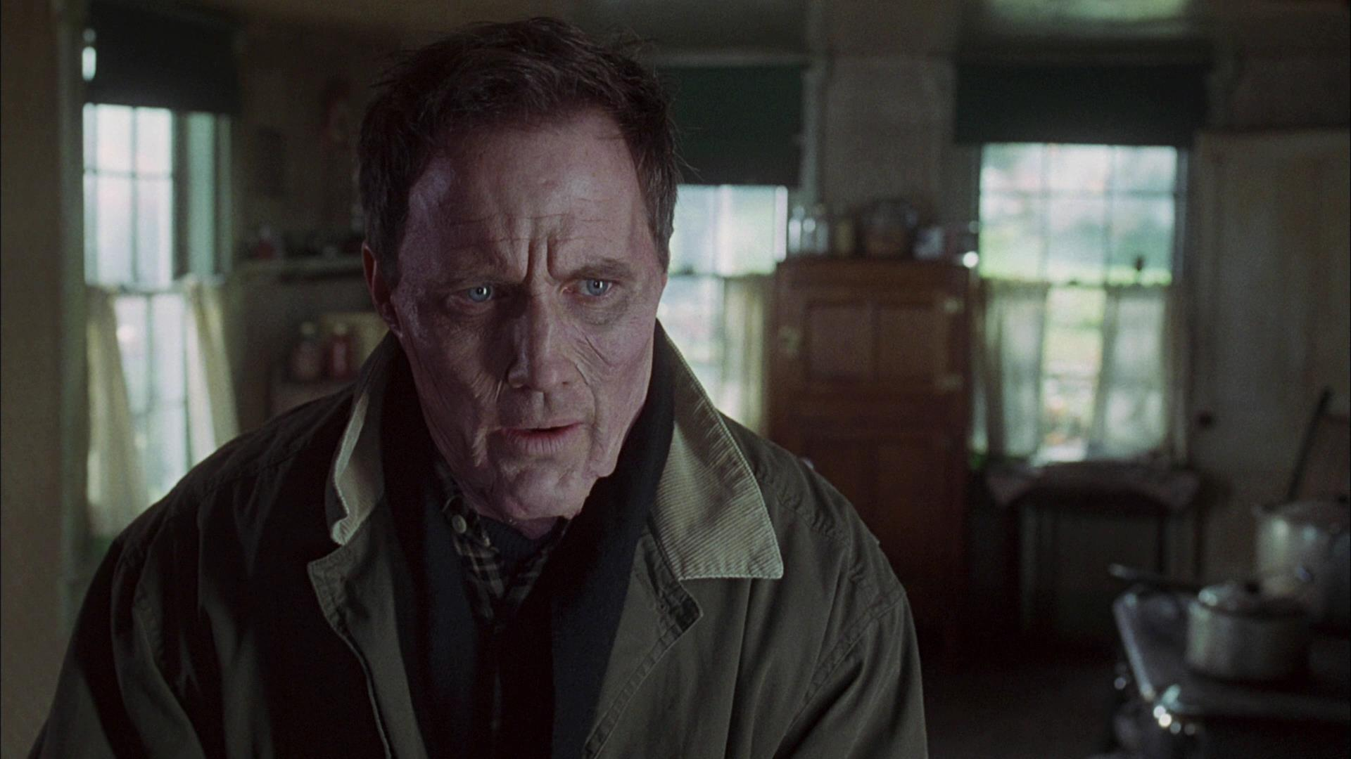 Robert John Burke afflicted with the thinning curse in Thinner (1996)