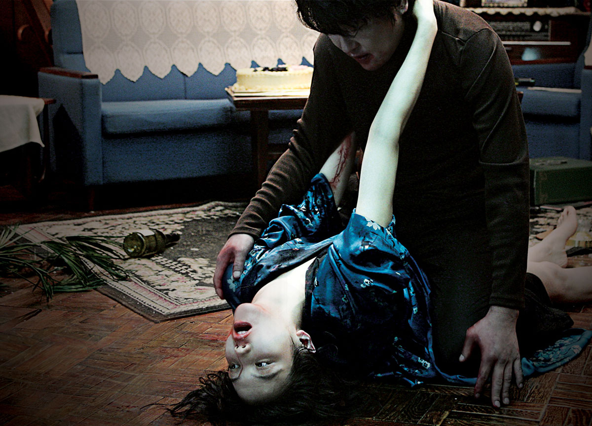 Song Kang-ho and Kim Ok-vin in the heat of passion in Thirst (2009)