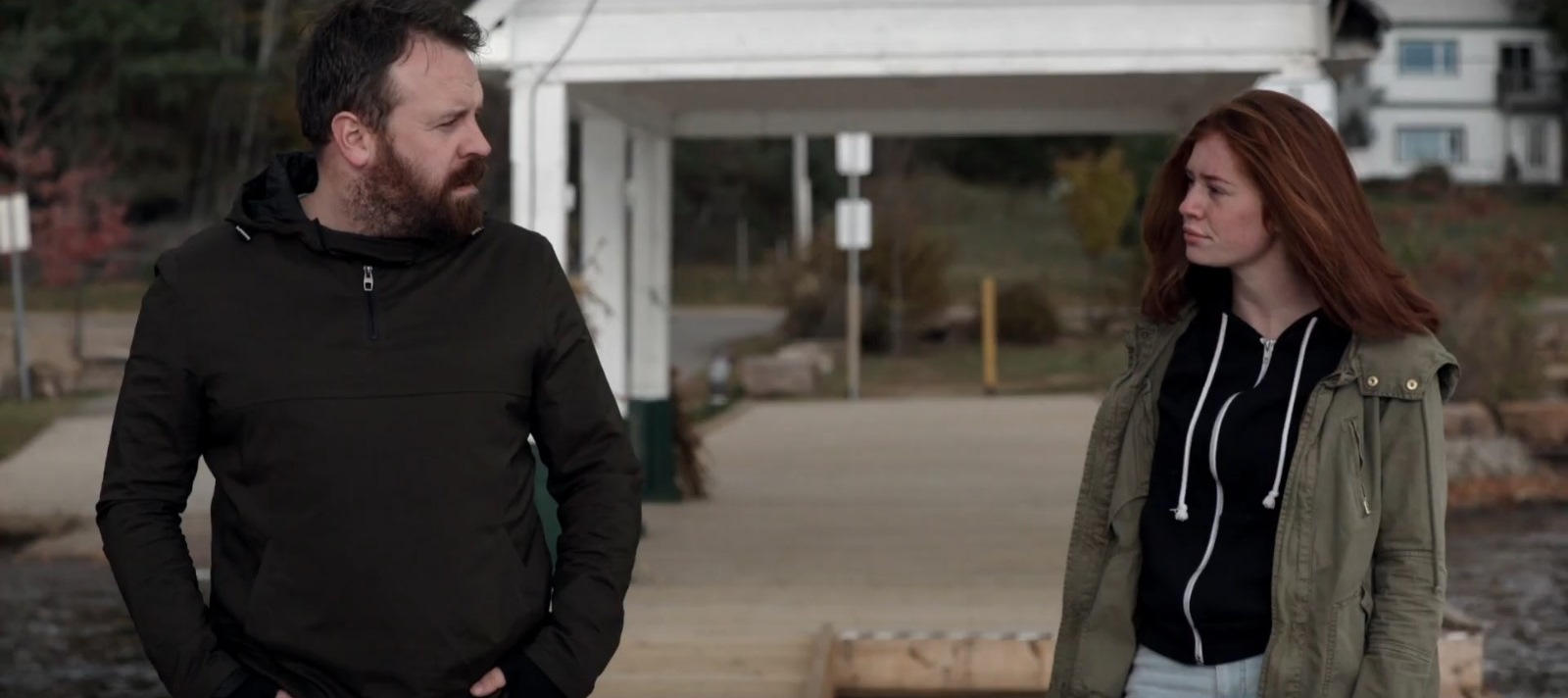 Father and daughter Simon Phillips and Caylin Turner in This Was America (2020)