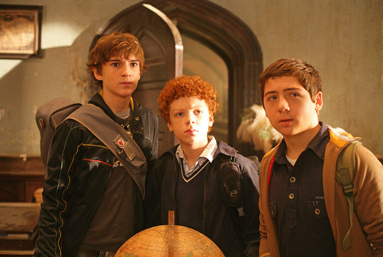 The Three Investigators - Jupiter Jones (Chancellor Miller), Bob Andrews (Cameron Monaghan) and Pete Crenshaw (Nick Price) in The Three Investigators in the Secret of Terror Castle (2009)