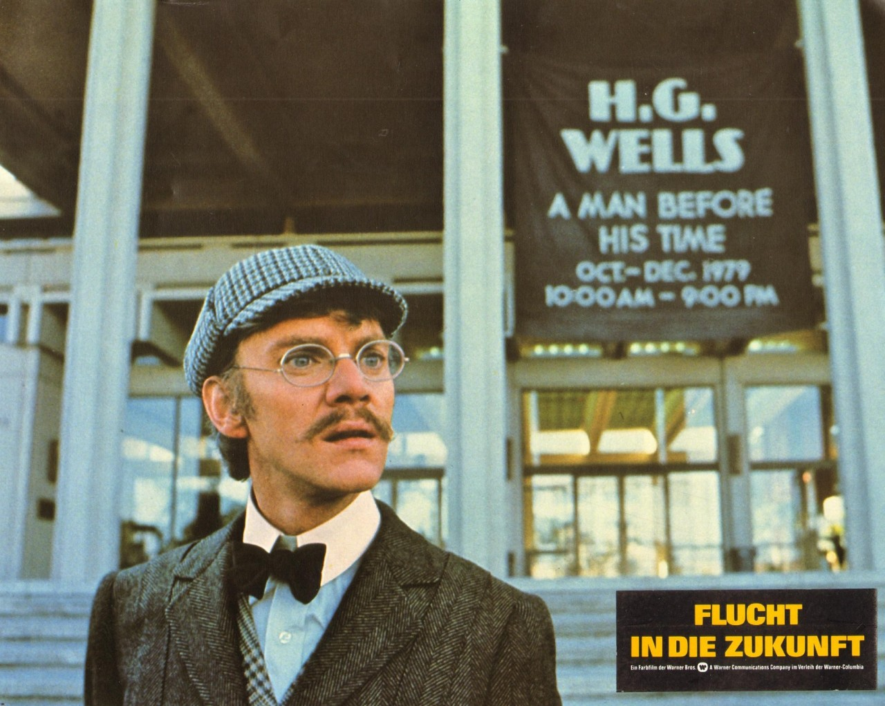 H.G. Wells (Malcolm McDowell) emerges in the present-day in Time After Time (1979)