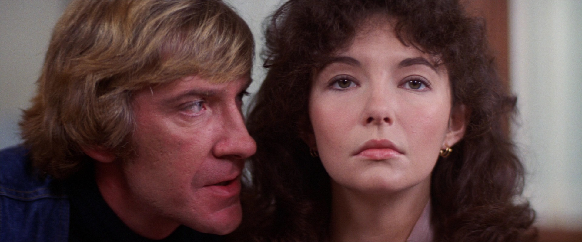 Dr Leslie John Stephenson aka Jack the Ripper (David Warner) menaces Amy Robbins (Mary Steenburgen) in Time After Time (1979)