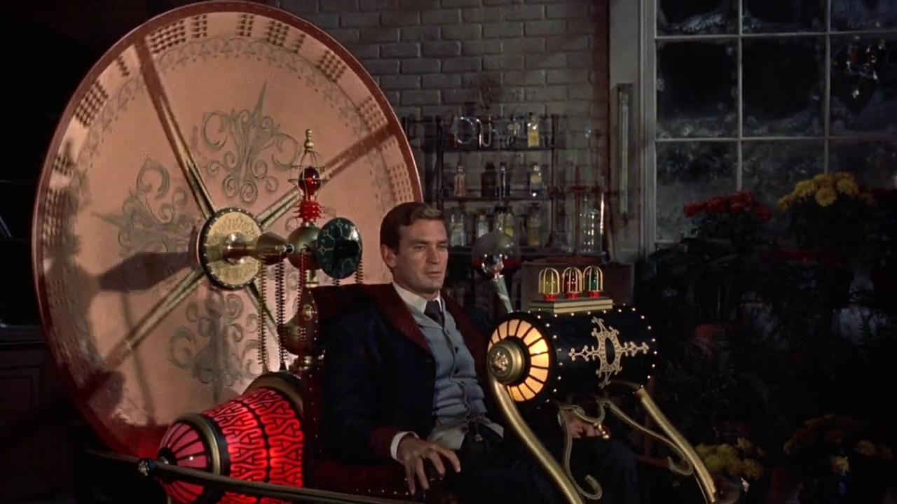 George (Rod Taylor) prepares to depart in The Time Machine (1960)