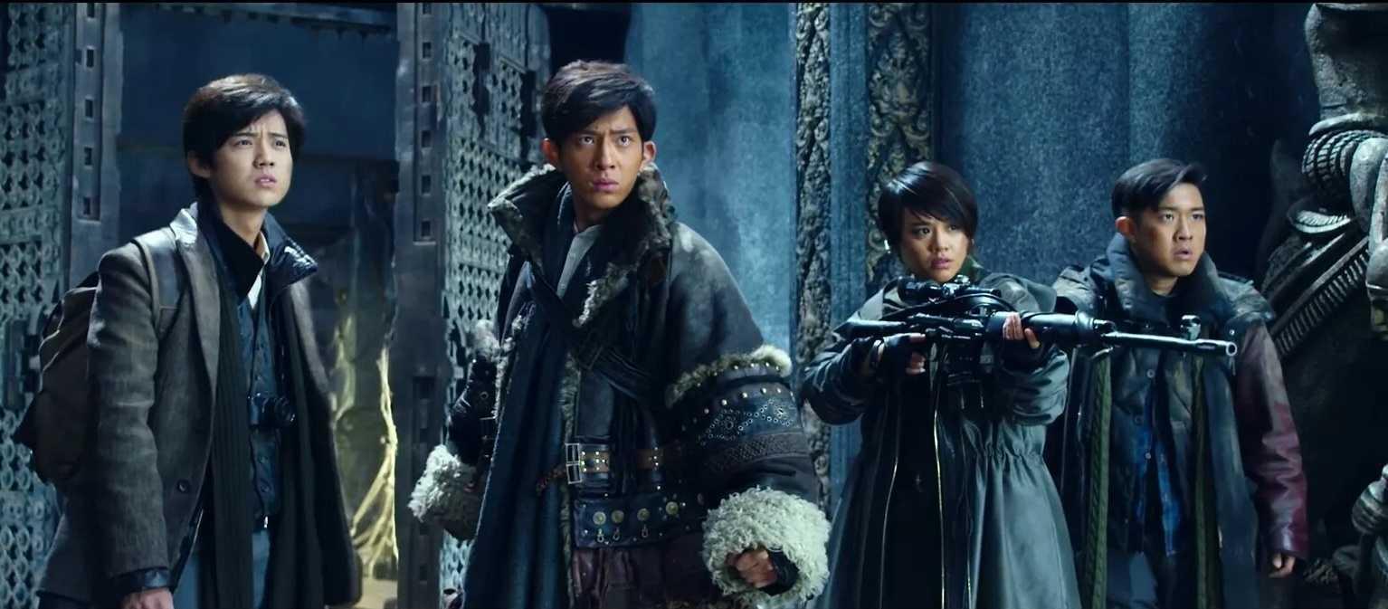 Lu Han, Jing Boran, Ma Sichun and Zhang Boyu in Time Raiders (2016)