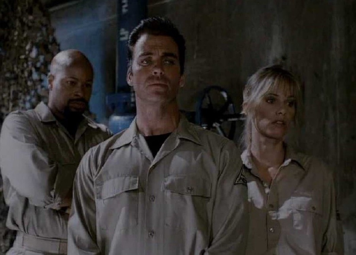 Richard Cummings, Jeff Fahey and Linda Hoffman in Time Under Fire (1997)
