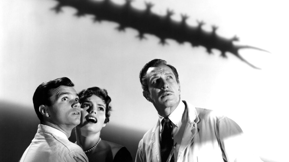 Darryl Hickman, Pamela Lincoln and Vincent Price in The Tingler (1959)