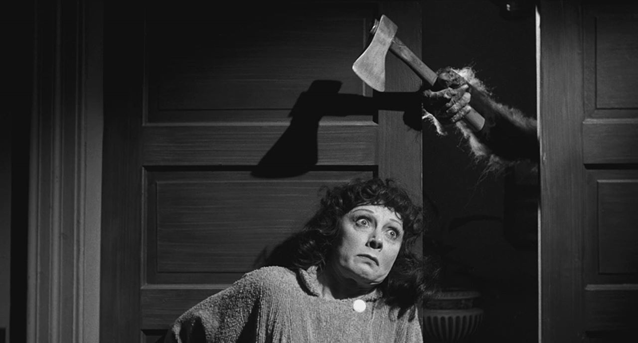 Deafmute Judith Evelyn is terrorised in The Tingler (1959