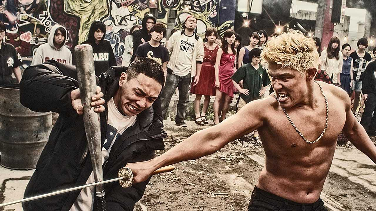 Street gang warfare - Young Dais and Ryohei Suzuki in  in Tokyo Tribe (2014)