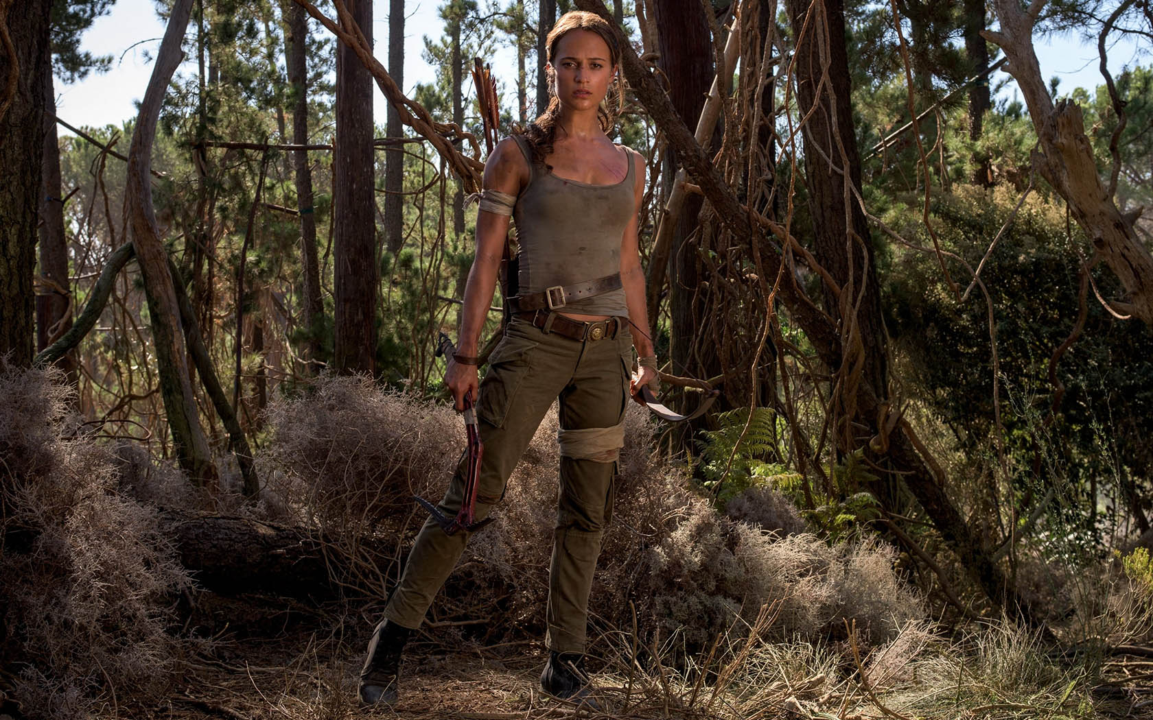 Alicia Vikander as Lara Croft in Tomb Raider (2018)