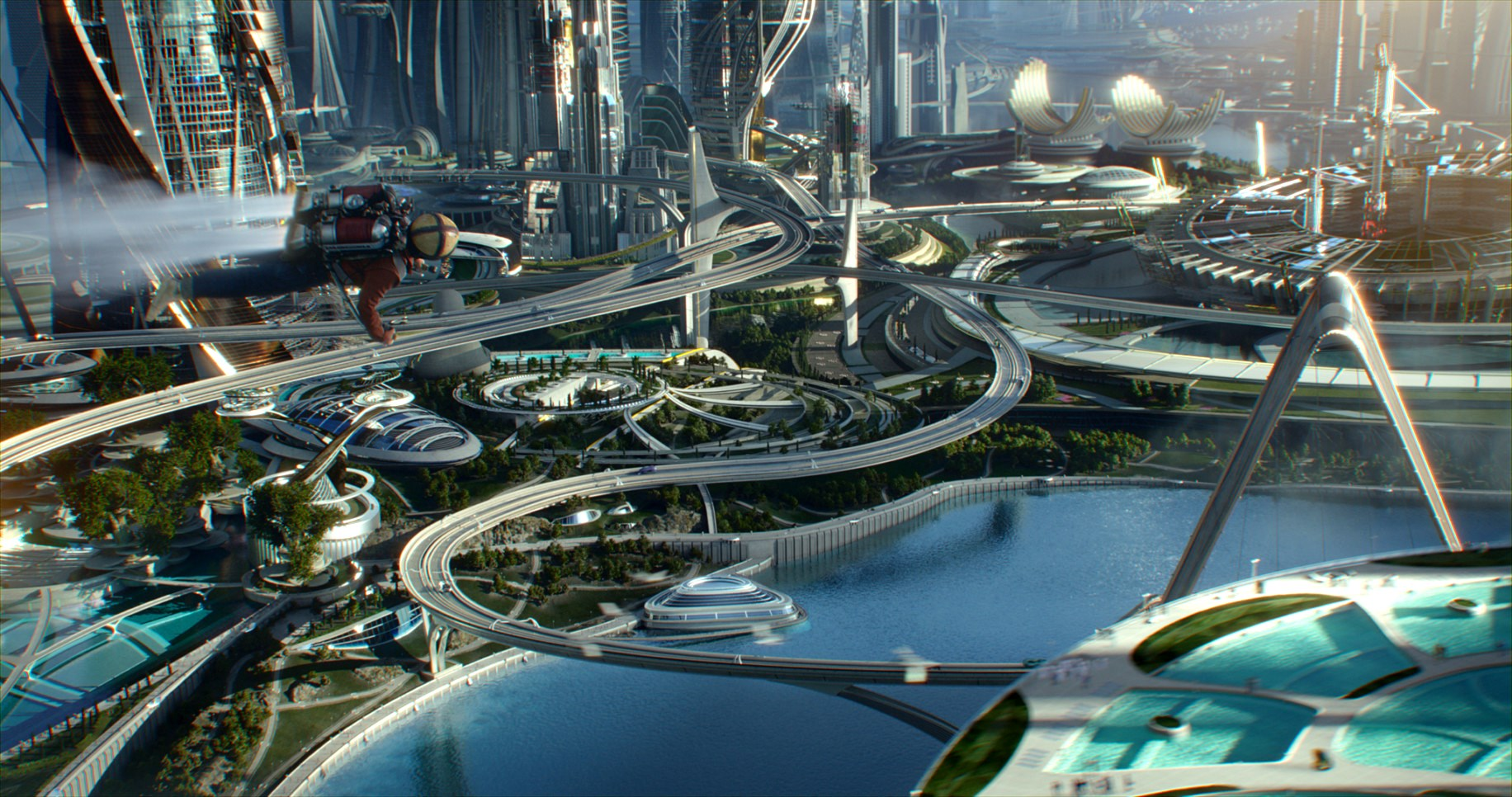 The amazing city of the future in Tomorrowland (2015)
