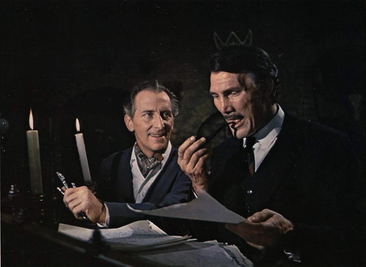 Peter Cushing, Jack Palance in Torture Garden (1967)