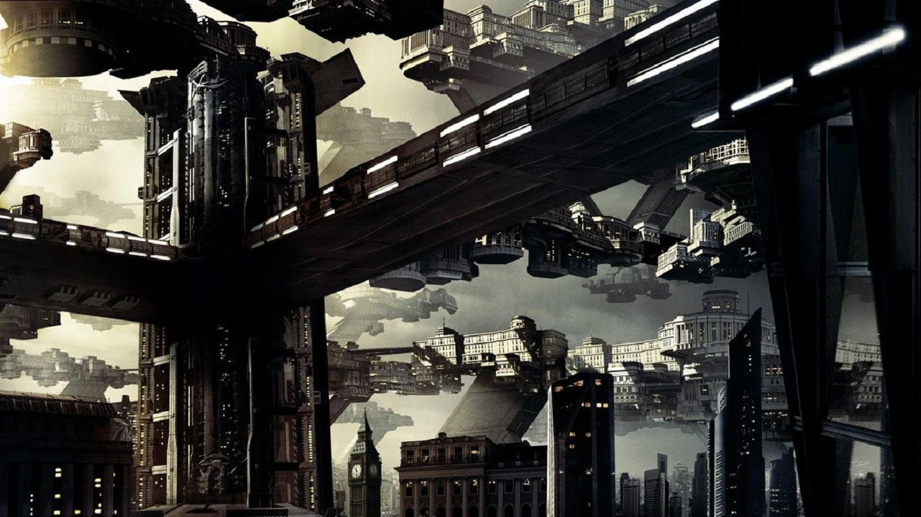The designs for the city of the future in Total Recall (2012)