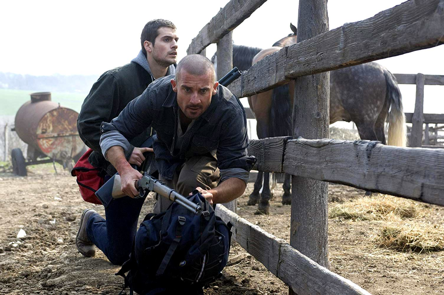 Brothers Henry Cavill and Dominic Purcell invade the farm at in Town Creek (2009)