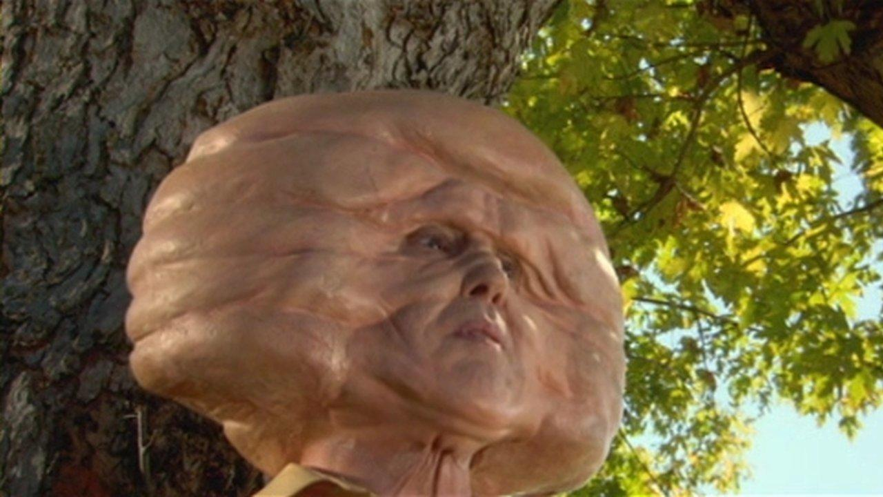 An invading alien forehead in Trail of the Screaming Forehead (2007)