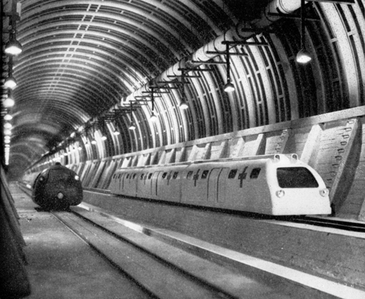 The interior of the Trans-Atlantic Tunnel (1935)