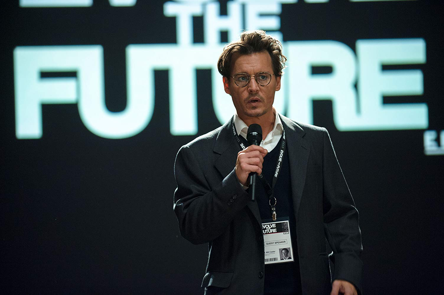 Johnny Depp as Dr Will Caster in Transcendence (2014)