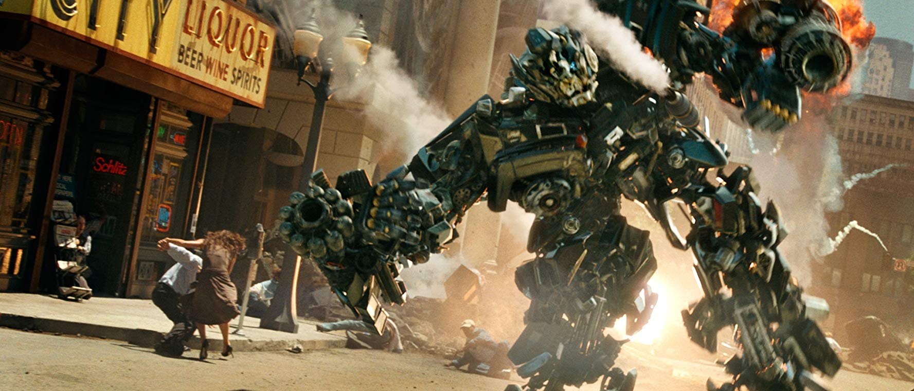 Copious mass destruction in Transformers (2007)