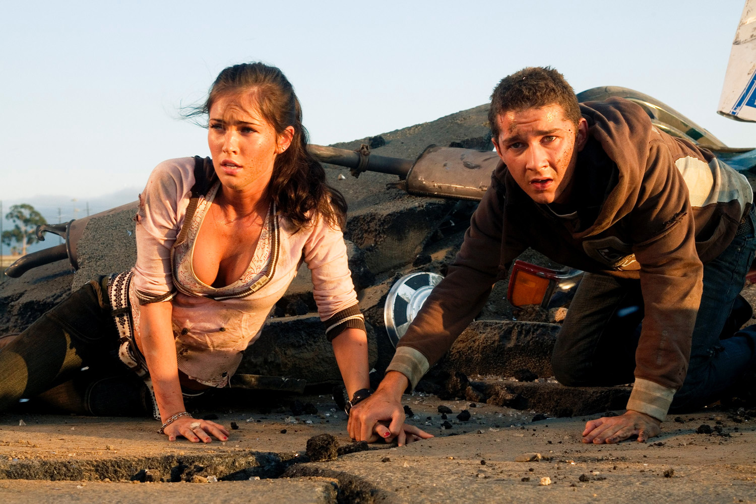 Megan Fox, Shia LaBeouf in Transformers (2007)