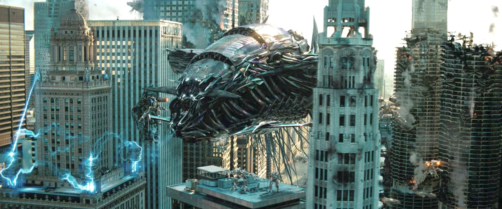 The Driller loose in the streets of Chicago in Transformers: Dark of the Moon (2011)