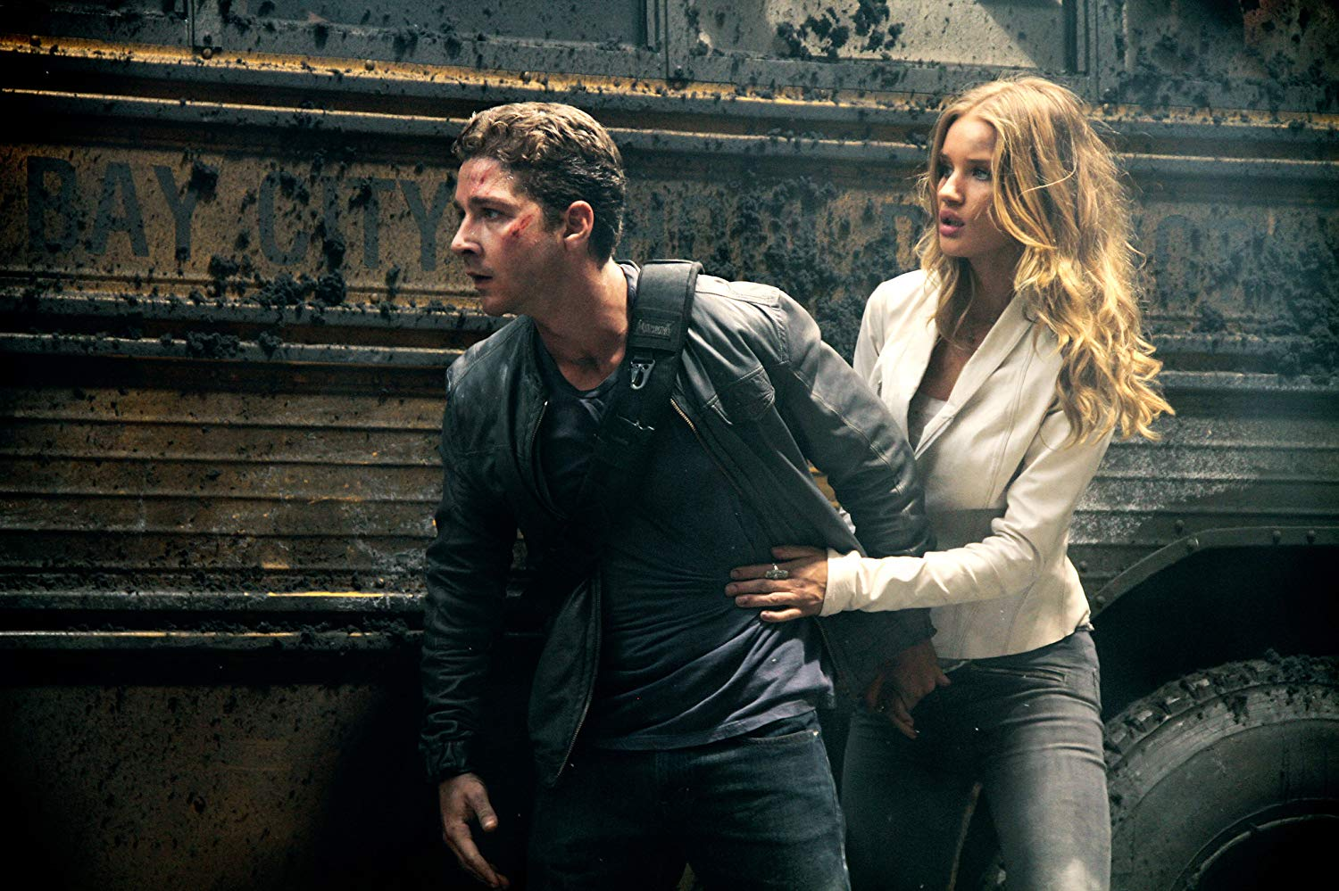 Shia LaBeouf, Rosie Huntingdon-Whiteley in Transformers: Dark of the Moon (2011)