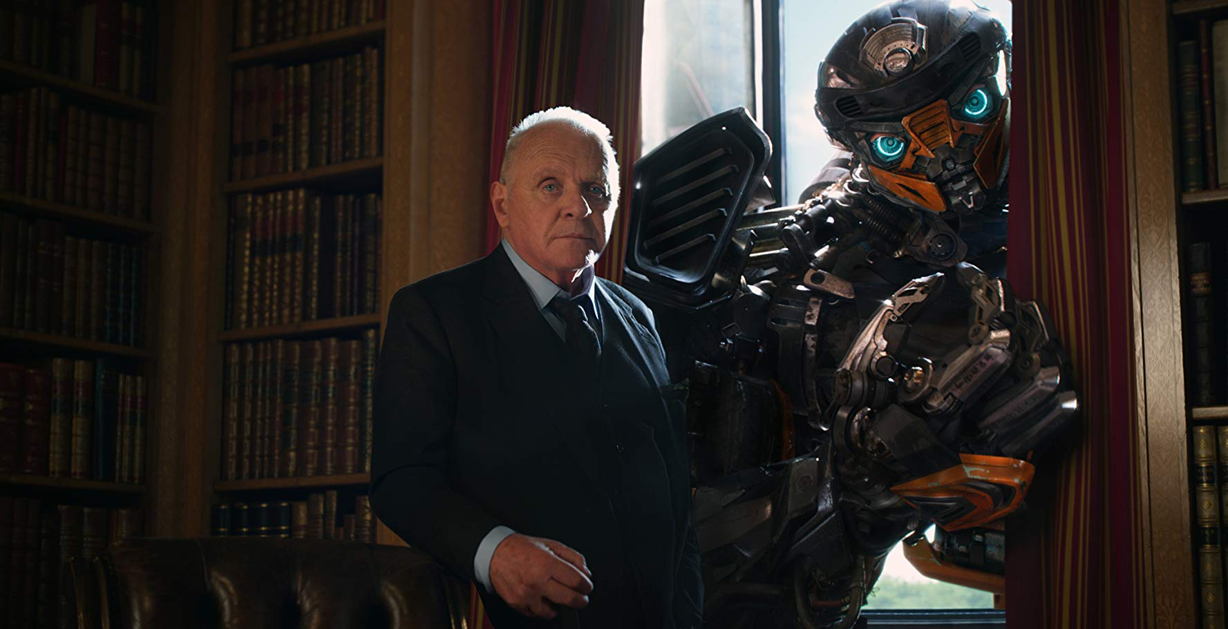 Anthony Hopkins and Hot Rod in Transformers: The Last Knight (2017)