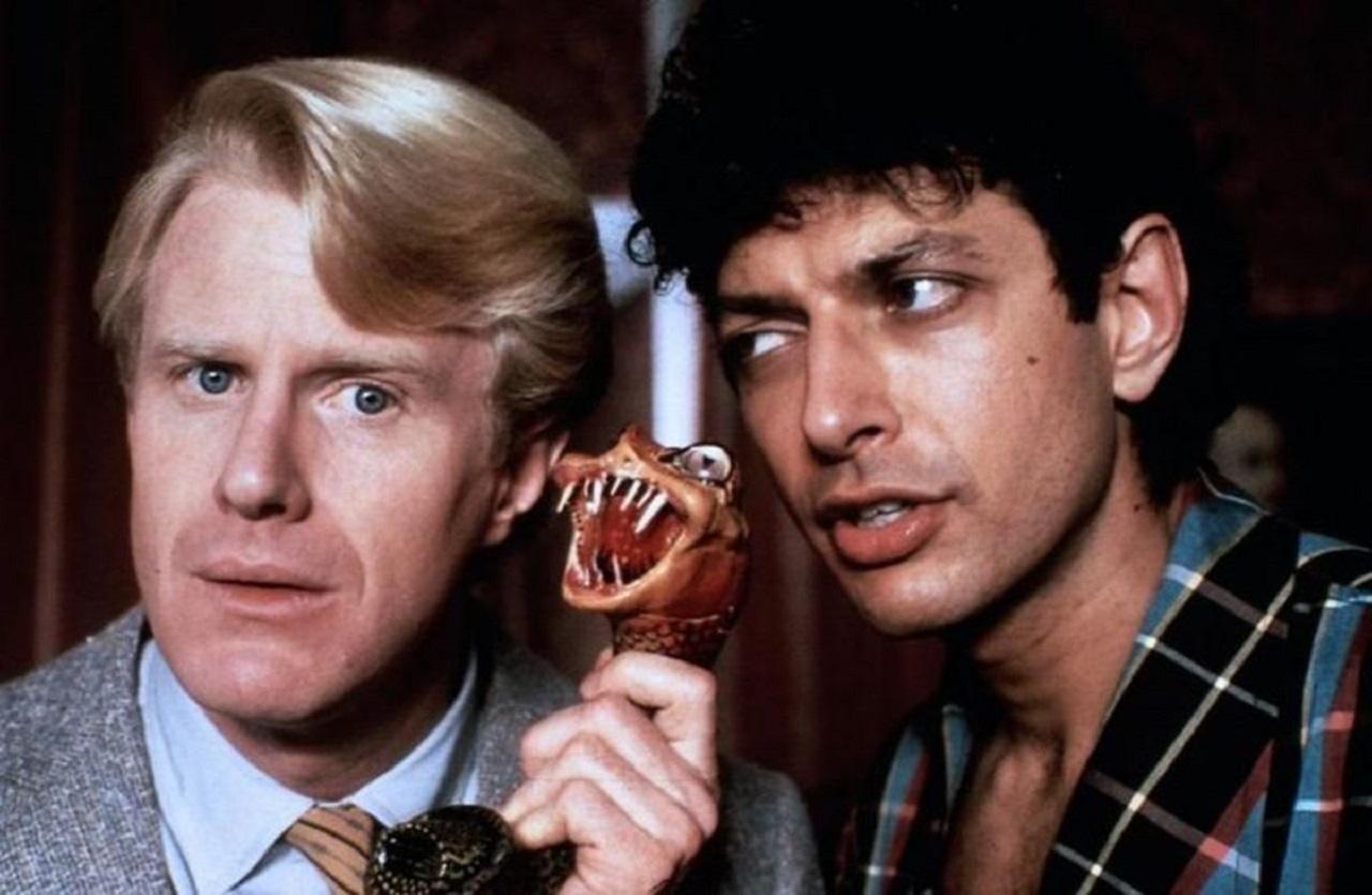 Ed Begley Jr and Jeff Goldblum in Transylvania 6-5000 (1985)