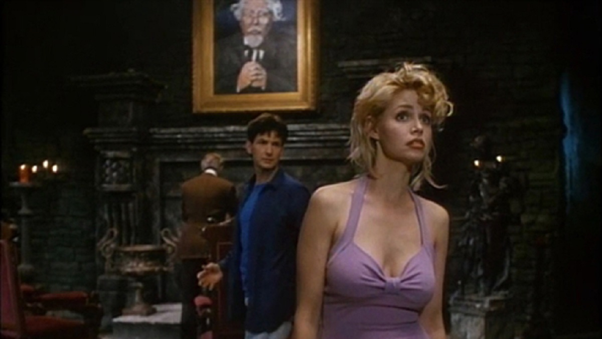 Steve Altman and Teri Copley explore Castle Orlock in Transylvania Twist (1989)