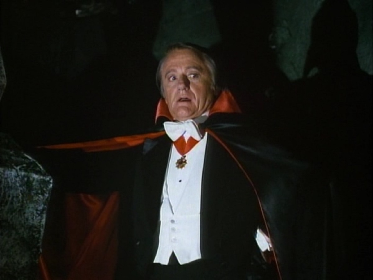 Robert Vaughn as the vampire Byron Orlock in Transylvania Twist (1989)