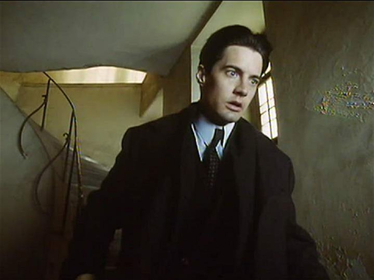 Kyle MacLachlan as Franz Kafka's protagonist Josef K caught in the surreal world of a nightmare  bureaucracy in The Trial (1993)