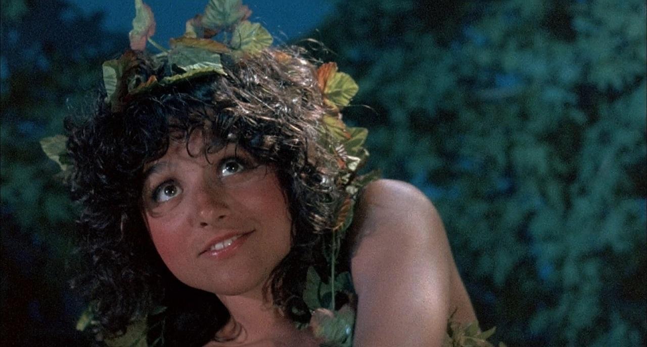 Julia Louis-Dreyfus as a woodland nymph in Troll (1986)