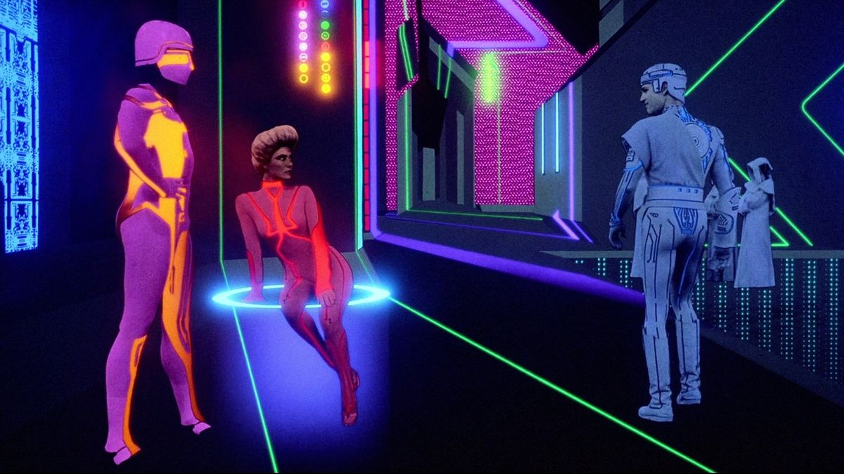 The world inside the computer in Tron (1982)