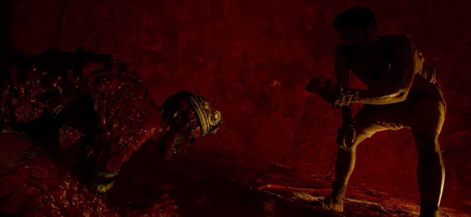 vinyak (Sohum Shah) ventures into the pit to face the demon Hastar in Tumbbad (2018)