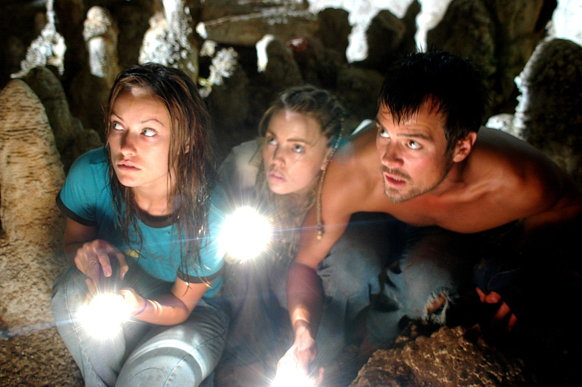 The turistas venture through a cave - (l to r) Olivia Wilde, Melissa George, Josh Duhamel