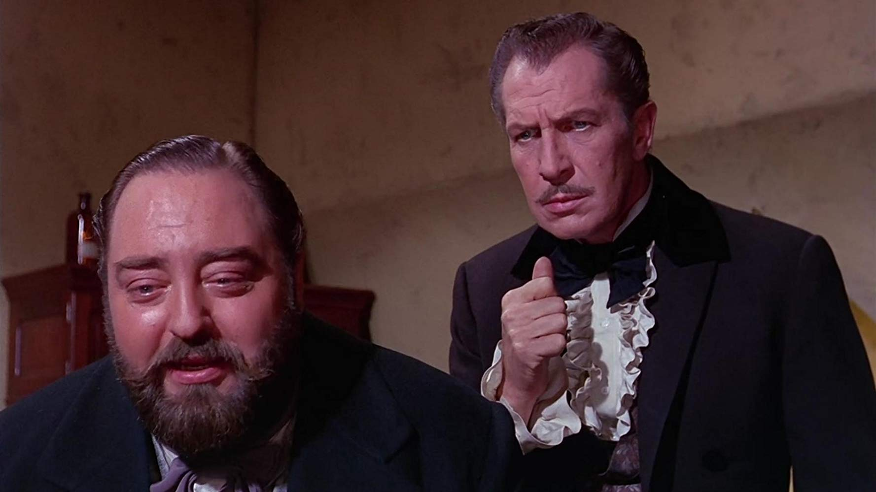 (l to r) Sebastian Cabot and Vincent Price in the Dr. Heidegger's Experiment episode of Twice-Told Tales (1963)