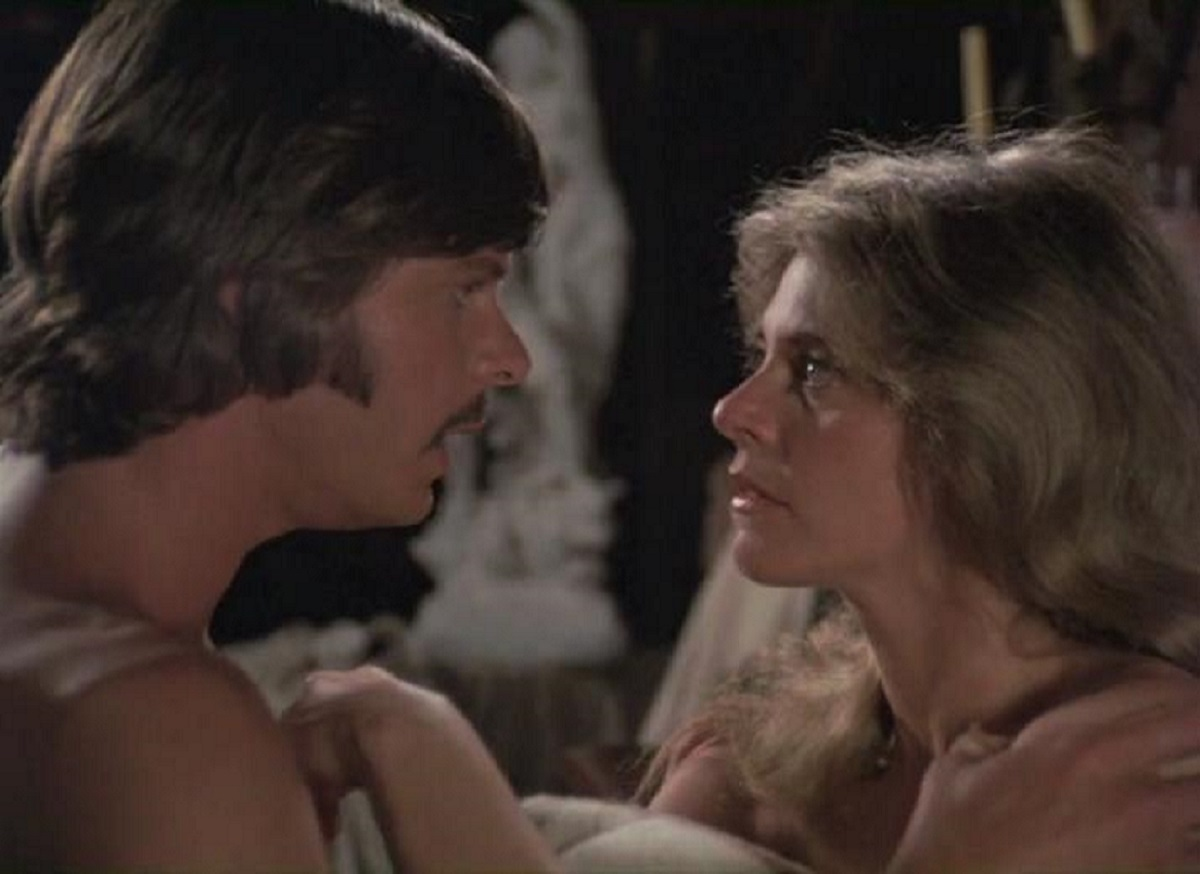 Modern woman Lindsay Wagner travels back in time to romance 19th Century man Marc Singer in The Two Worlds of Jennie Logan (1979)
