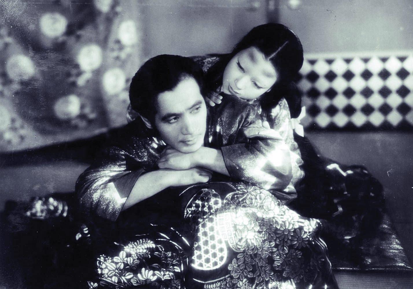 Samurai Masayuki Mori and the ghostly Machiko Kyo in Ugetsu Monogatari (1953)