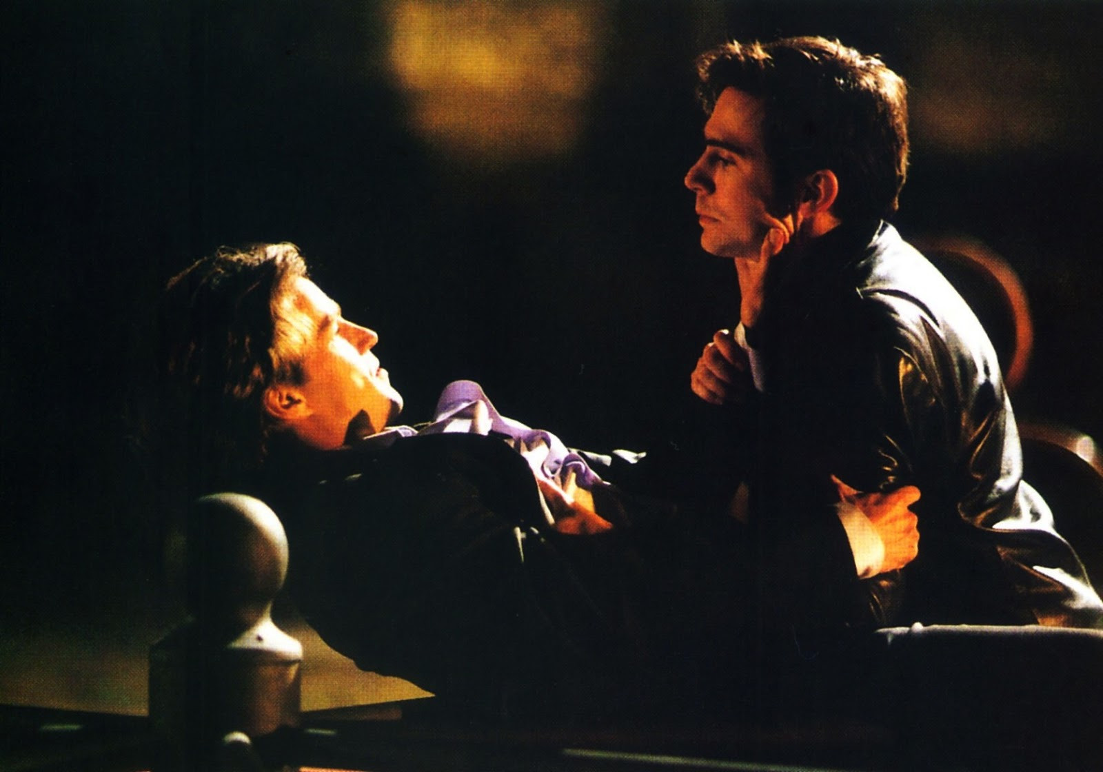 Jack Davenport (r) confronts his now vampire friend Stephen Moyer (l) in Ultraviolet (1998)