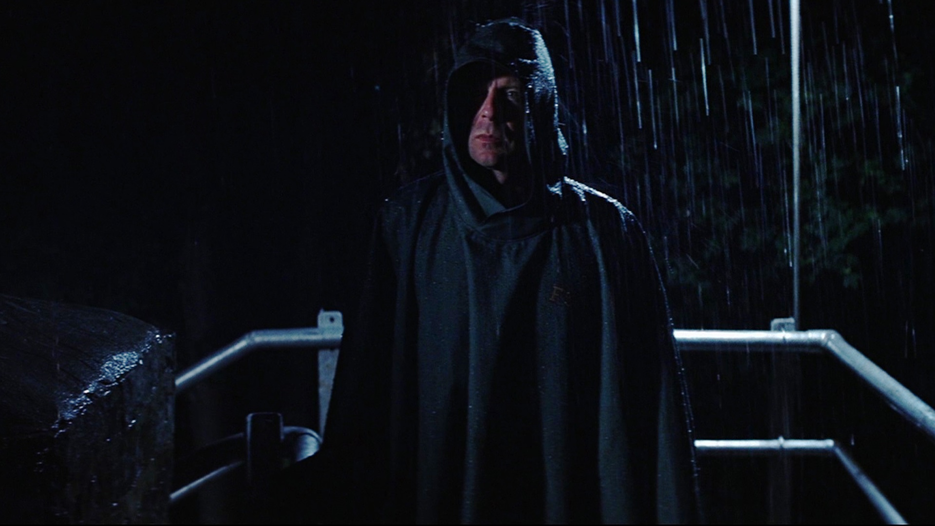 Bruce Willis as David Dunn, M. Night Shyamalan's kitchen sink superhero in Unbreakable (2000)