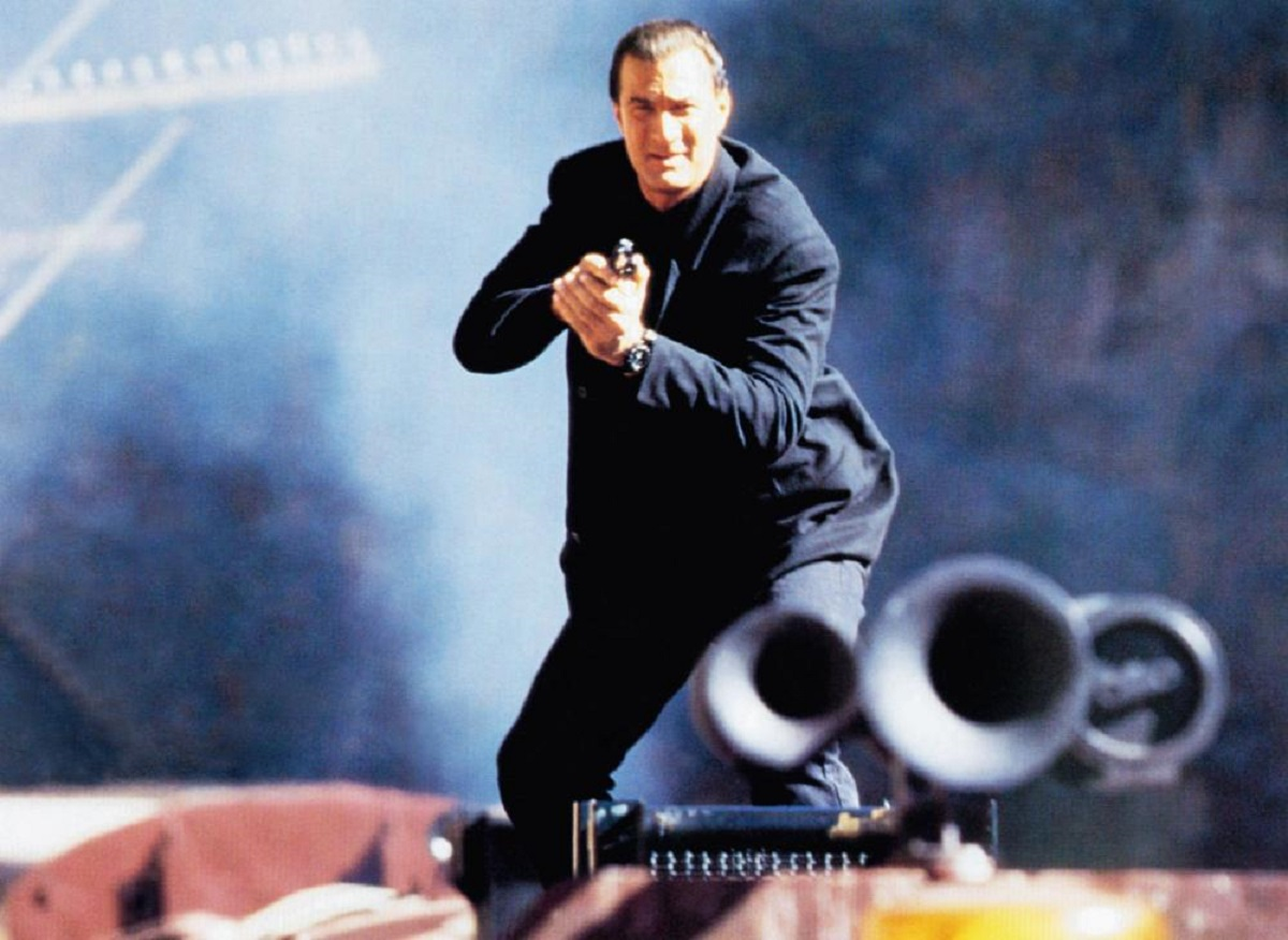 Steven Seagal as Casey Ryback, defending a train against a terrorist takeover in Under Siege 2: Dark Territory (1995)