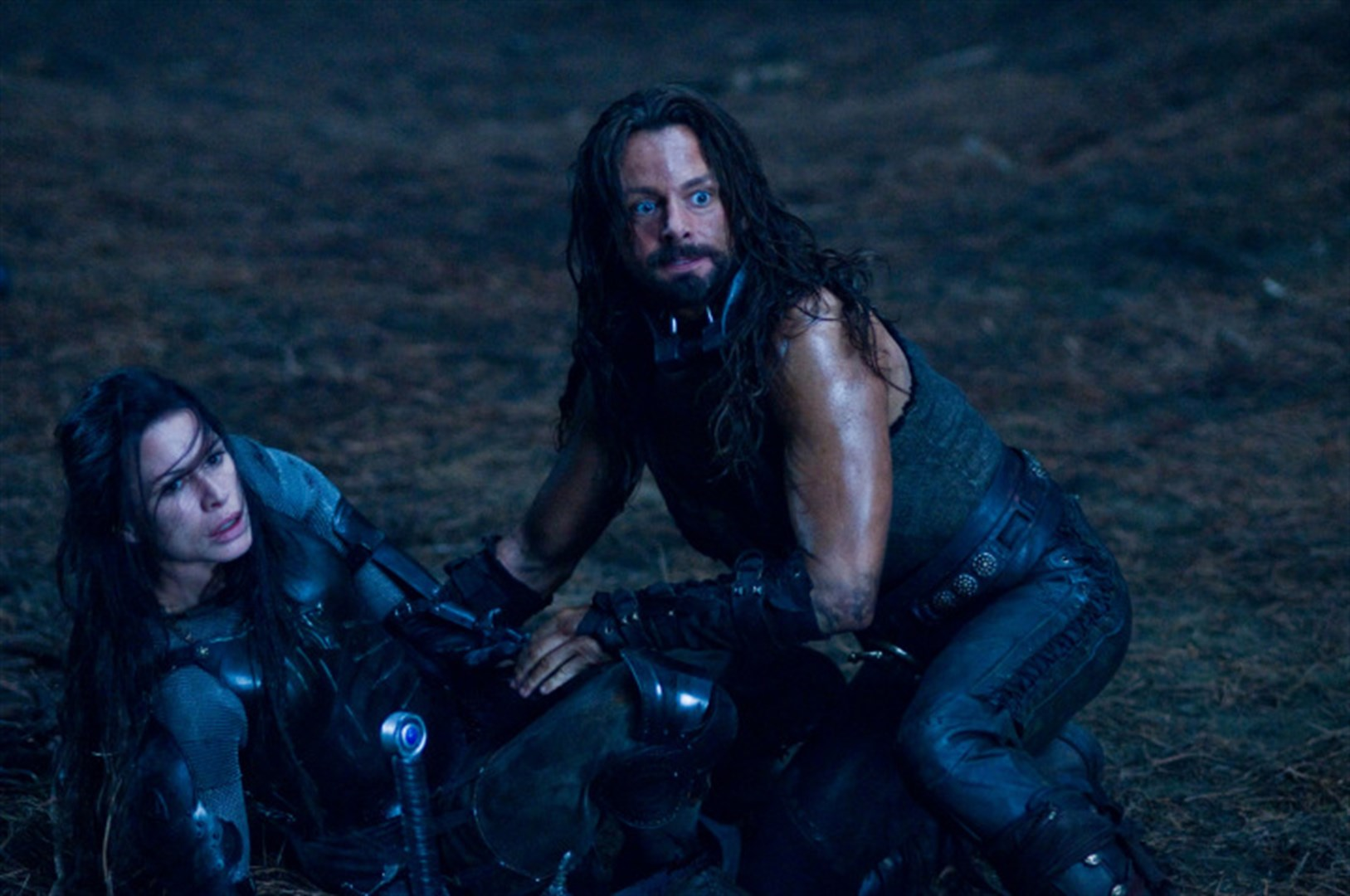 Sonja (Rhona Mitra) and Lucian (Michael Sheen) in Underworld: Rise of the Lycans (2005)
