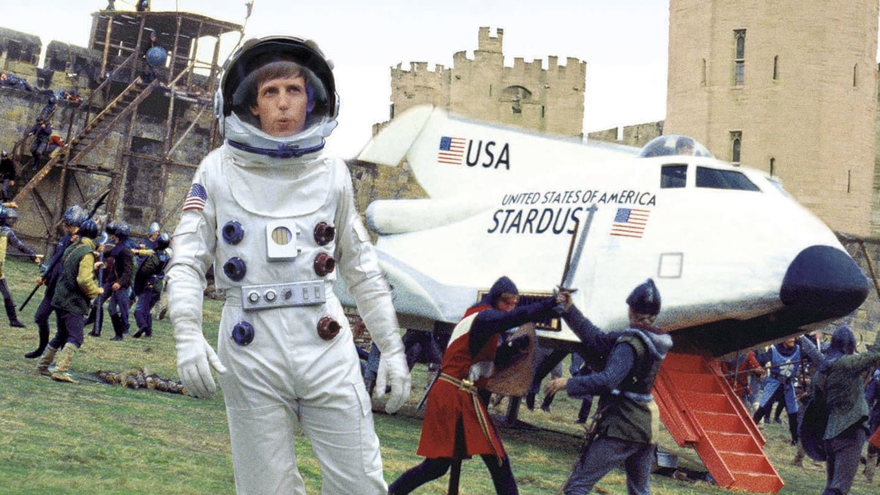 Space shuttle astronaut Dennis Dugan thrown back in time to Camelot in Unidentified Flying Oddball (1979)