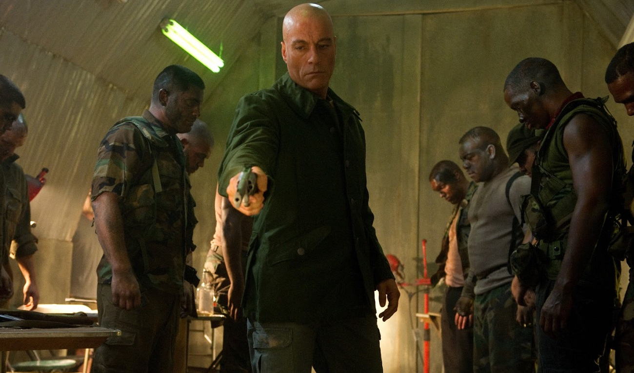 Luc Devereaux (Jean-Claude Van Damme) leading a rogue team of Unisols in Universal Soldier: Day of Reckoning (2012)